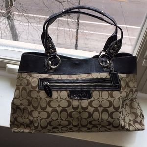 COACH classic patterned large purse